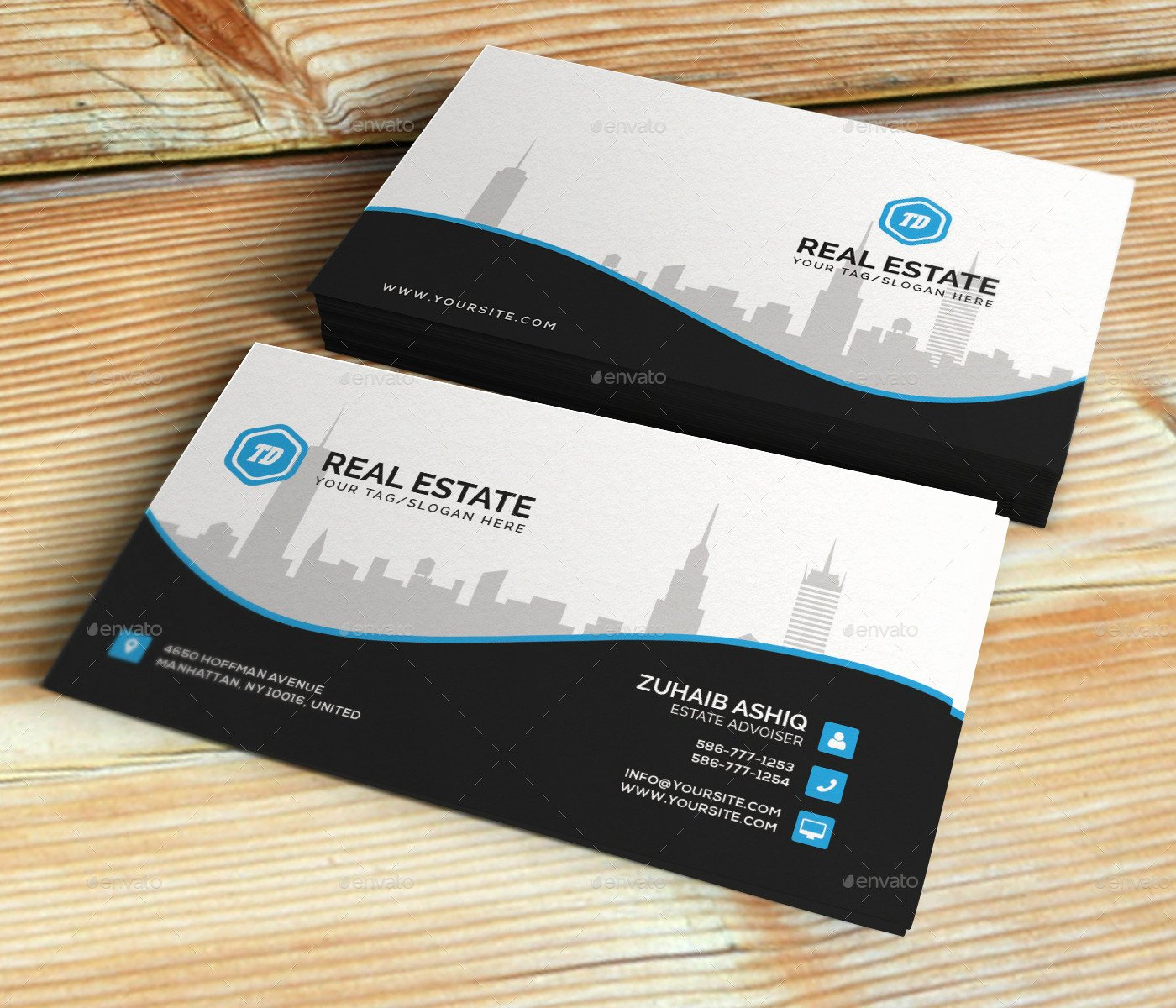 Real Estate Business Card Template by themedesk