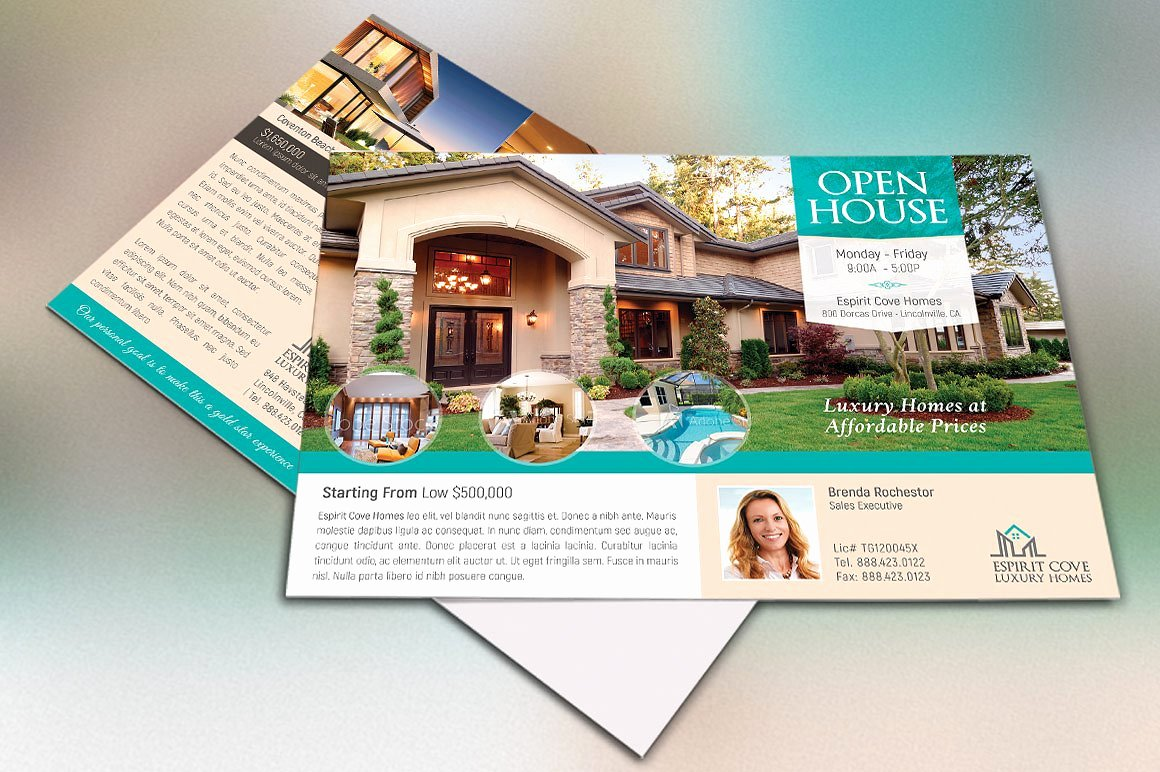 Real Estate Eddm Postcard Template Flyer Templates