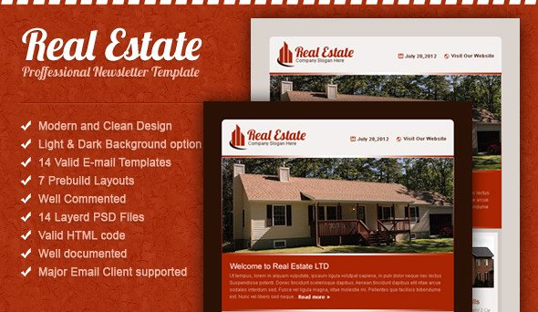 Real Estate Email Template by Spidebinc