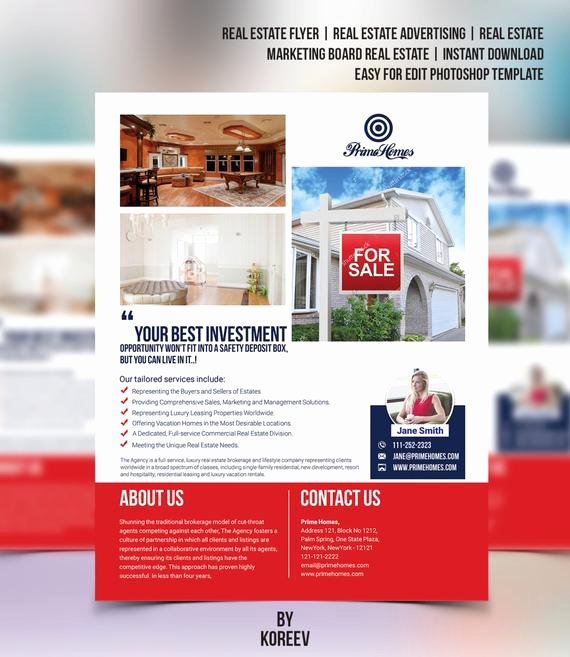 Real Estate Flyer Editable In Microsoft Word Powerpoint