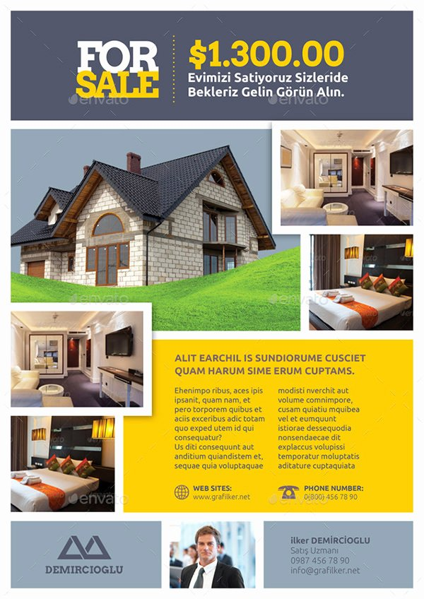 Real Estate Flyer Template 27 Free Psd Ai Vector Eps