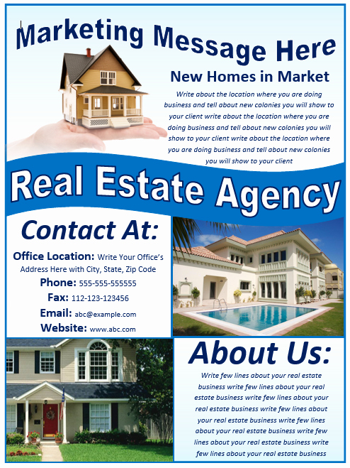 Real Estate Flyer Template Free Template Downloads