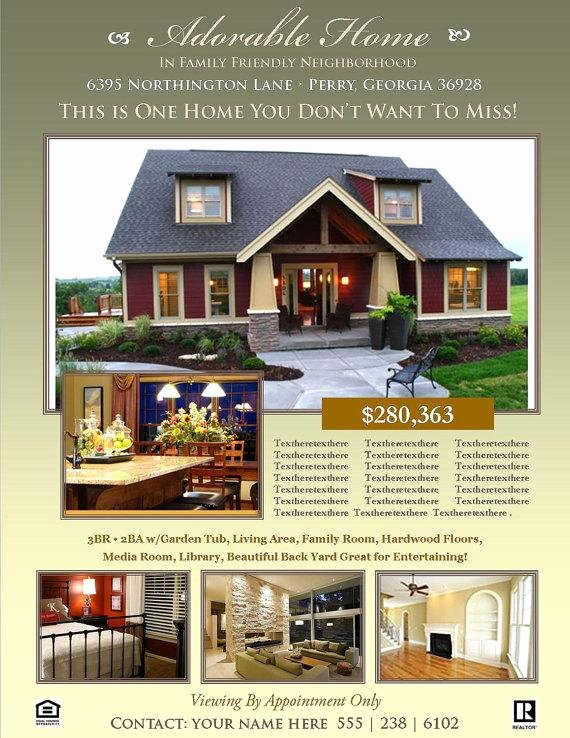 Real Estate Flyer Template Microsoft Publisher Template
