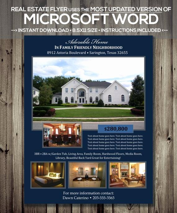 Real Estate Flyer Template Microsoft Word Cx Version