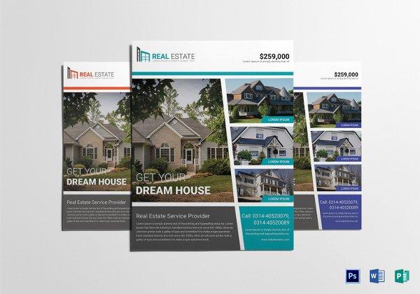 Real Estate Flyer Template Printable Editable Word Pdf