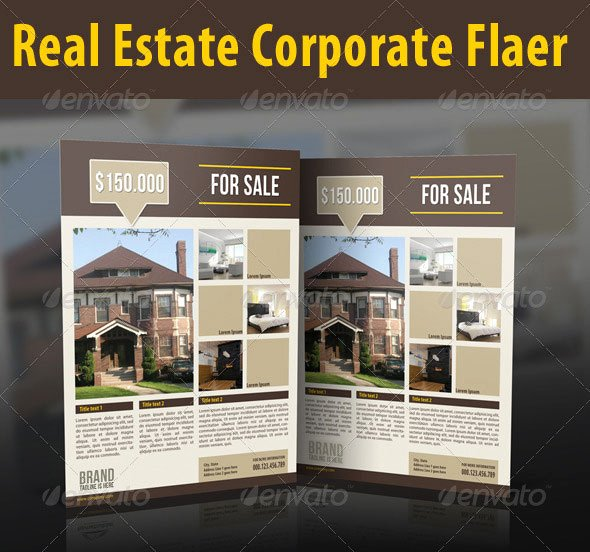Real Estate Flyer Template Psd Template Design Ideas