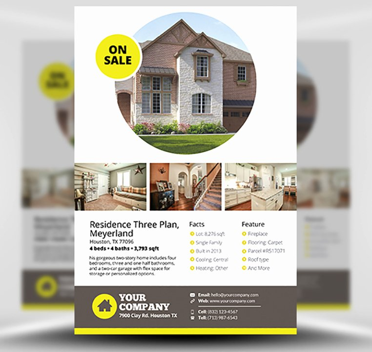 Real Estate Flyer Template V2 Flyerheroes