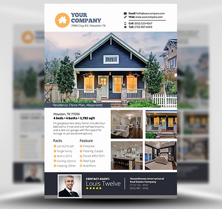 Real Estate Flyer Template V3 Flyerheroes