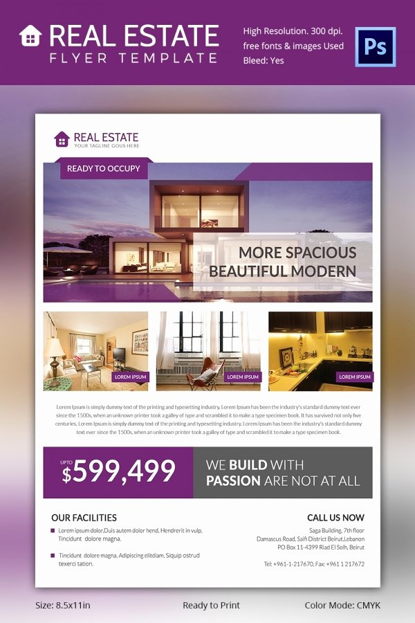 Real Estate Flyer Template Word Tire Driveeasy