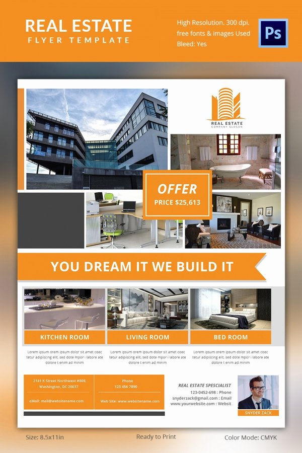 Real Estate Flyer Templates Template F House for Rent