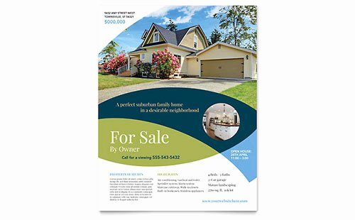 Real Estate Flyer Templates Word & Publisher