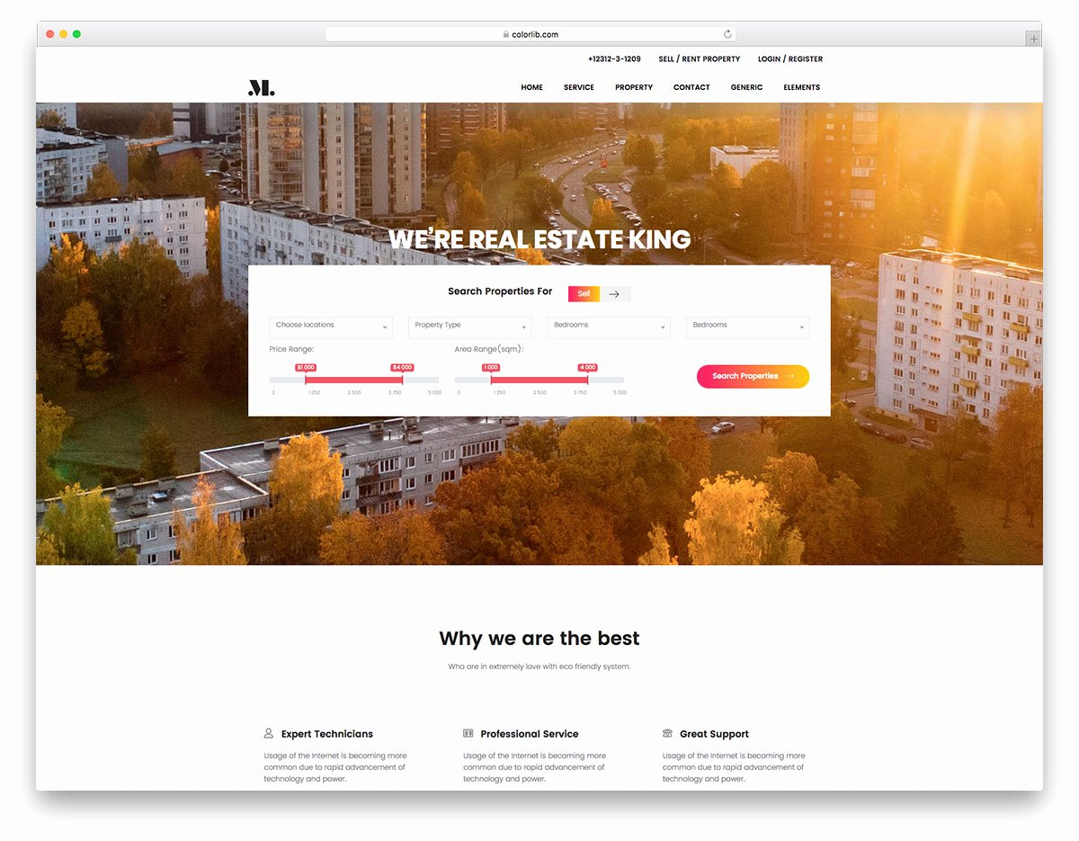 Real Estate Free Real Estate Website Template Colorlib