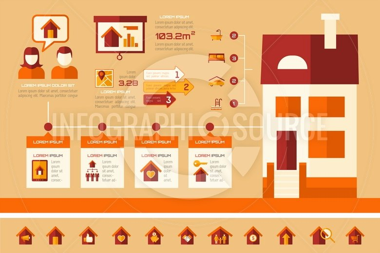 Real Estate Infographic Template 18 Infographicsource