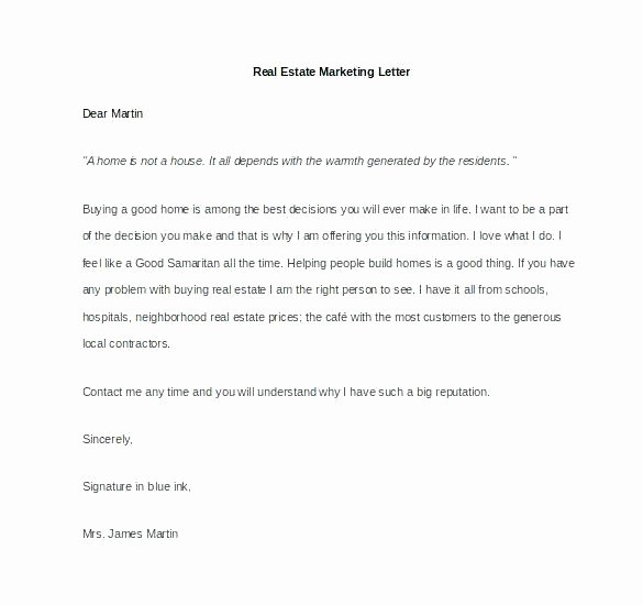 Real Estate Introduction Letter Real Estate Introduction