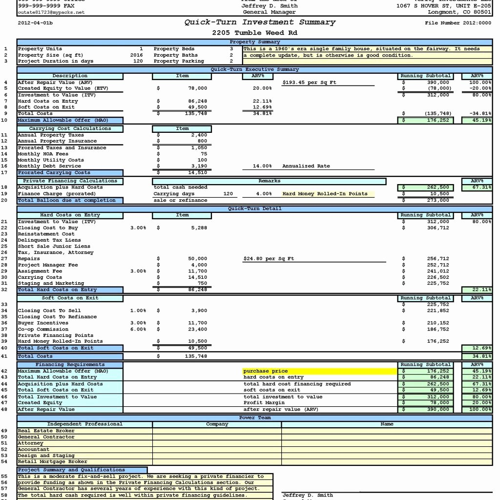 Real Estate Investment Spreadsheet Pulpedagogen