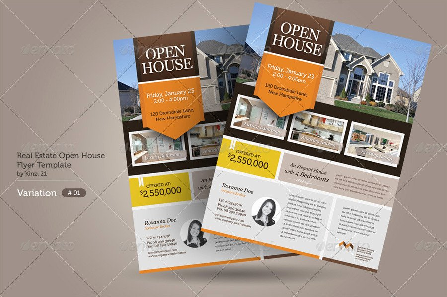 Real Estate Open House Flyers by Kinzi21
