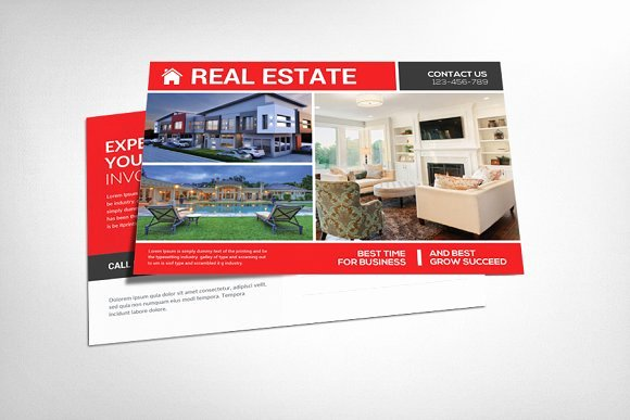 Real Estate Postcard Psd Card Templates On Creative Market