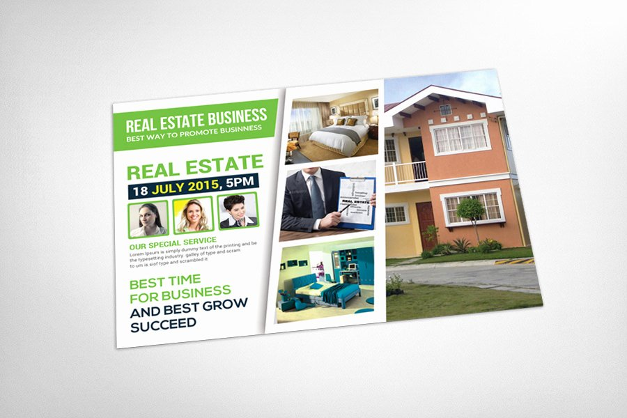 Real Estate Postcard Template Card Templates On Creative