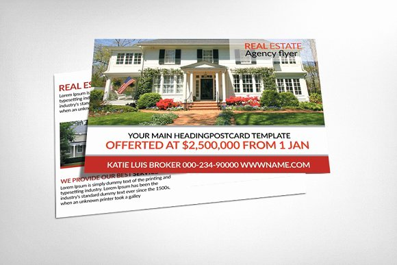 Real Estate Postcard Templates Card Templates On