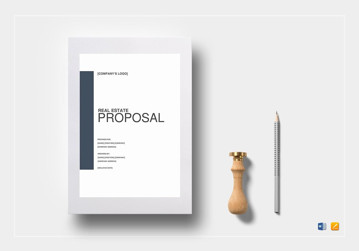 Real Estate Proposal Template In Word Google Docs Apple