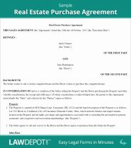 Real Estate Purchase Agreement United States form Lawdepot