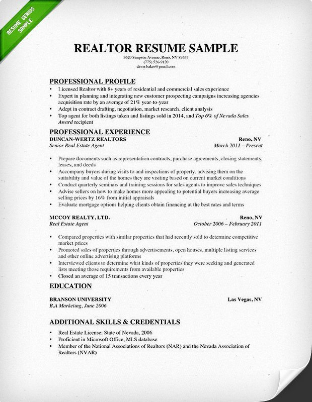 Real Estate Resume & Writing Guide