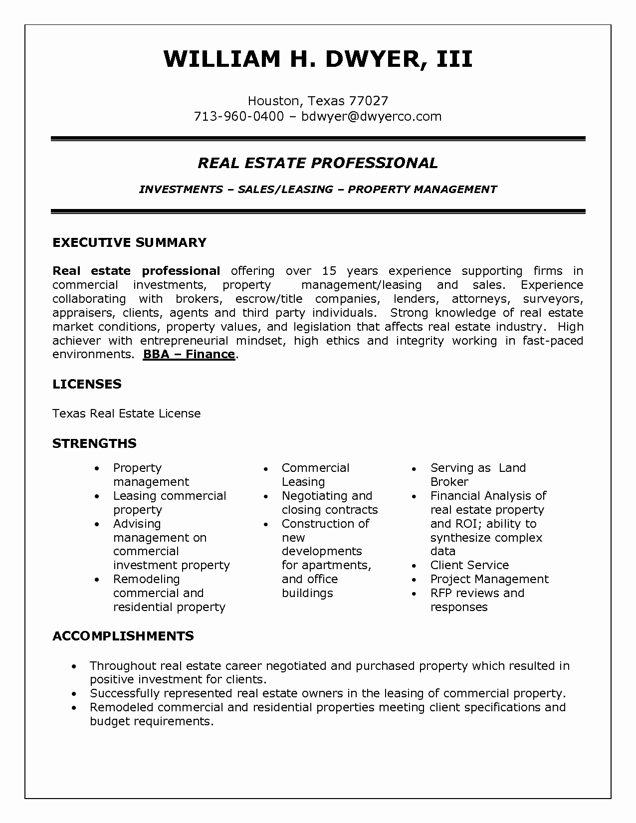 Real Estate Resume Samples Real Estate Agent Resume