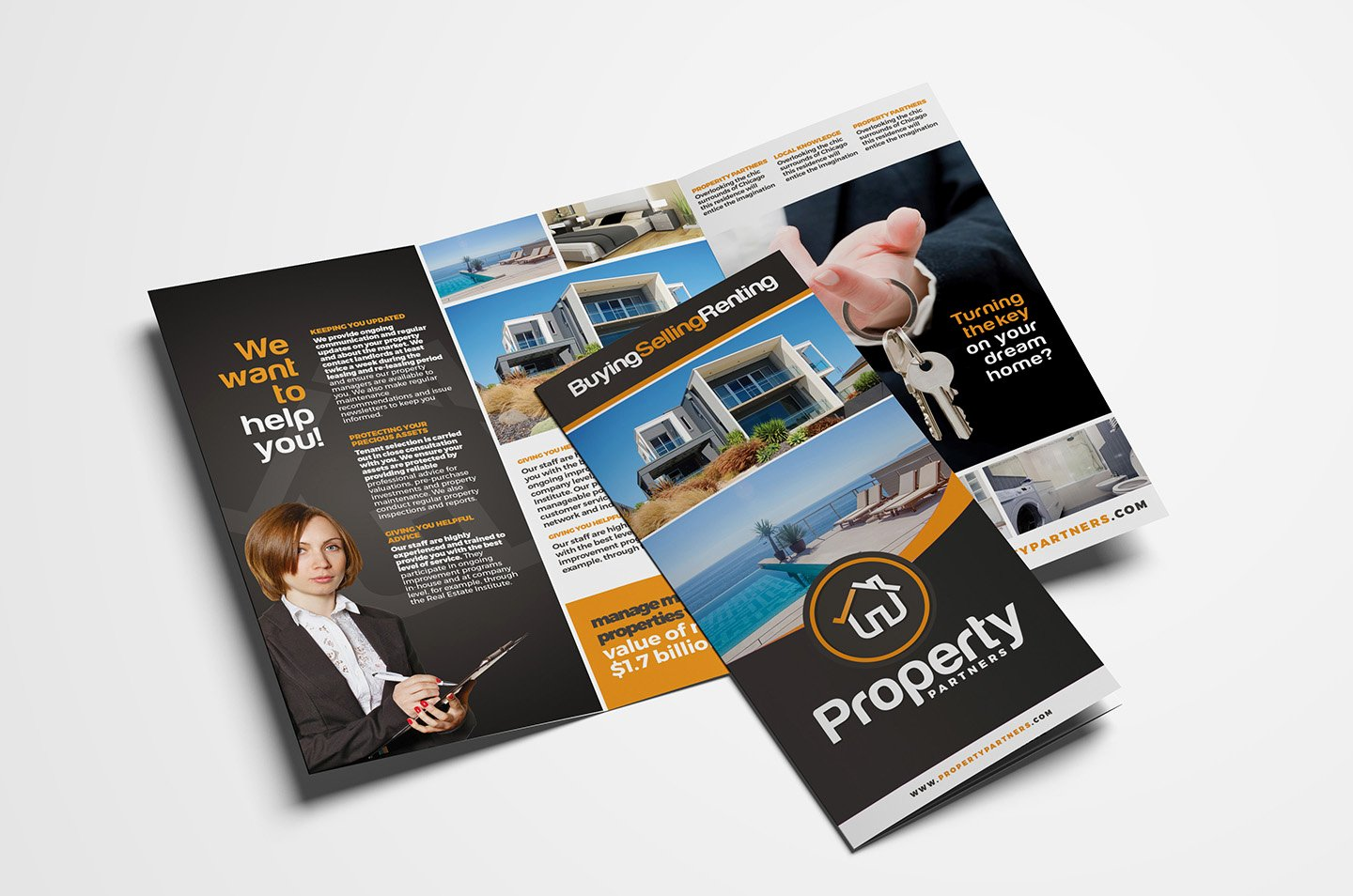 Real Estate Tri Fold Brochure Template In Psd Ai & Vector
