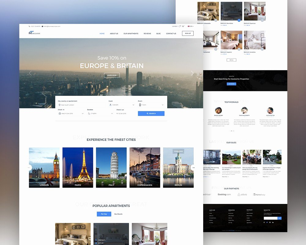 Real Estate Website Template Psd Download Psd