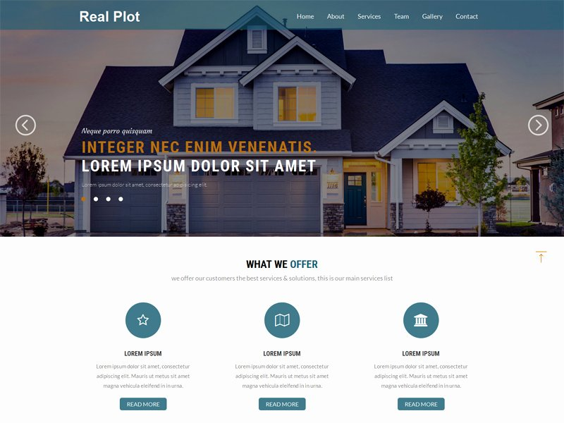 Real Plot Free Real Estate Bootstrap Template Freemium