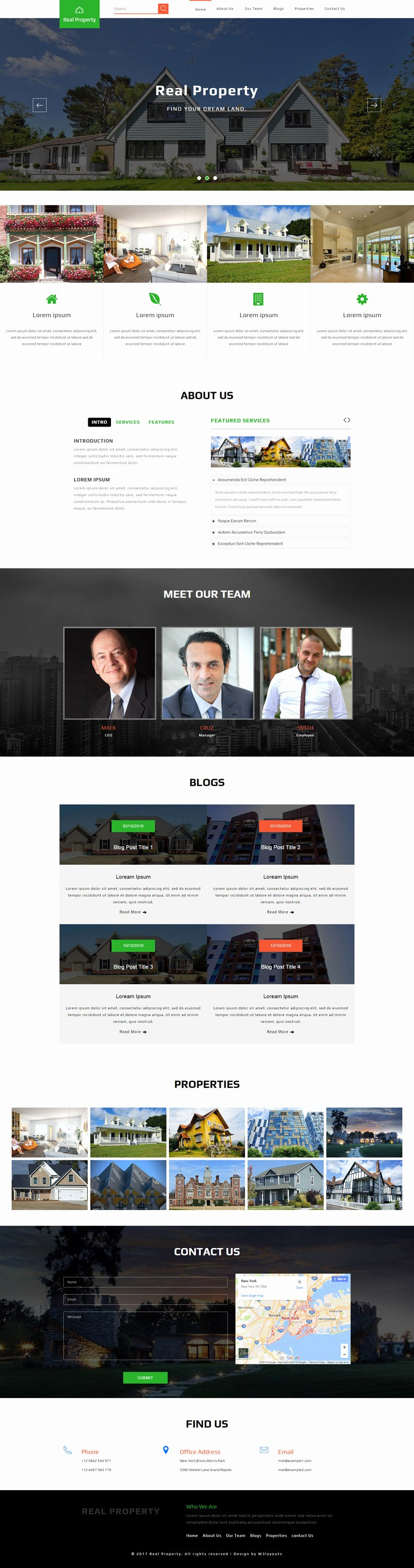 Real Property A Real Estate Category Bootstrap Responsive