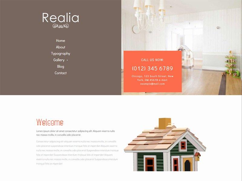 Realia Free Responsive Real Estate Bootstrap Template