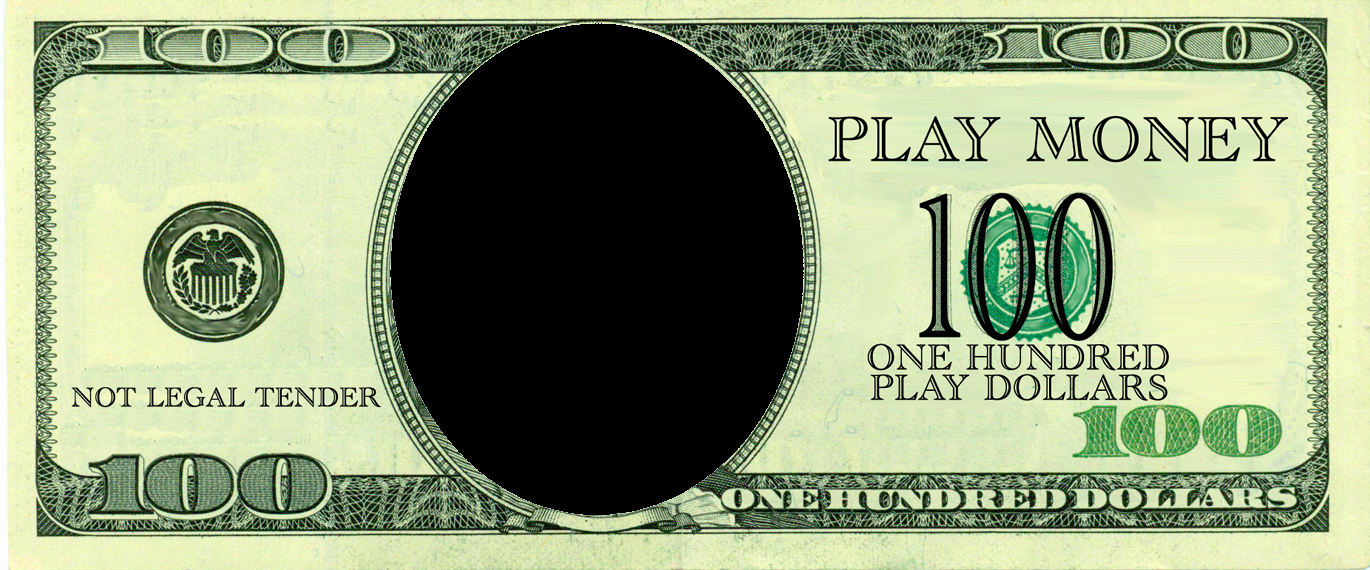 Realistic Play Money Templates