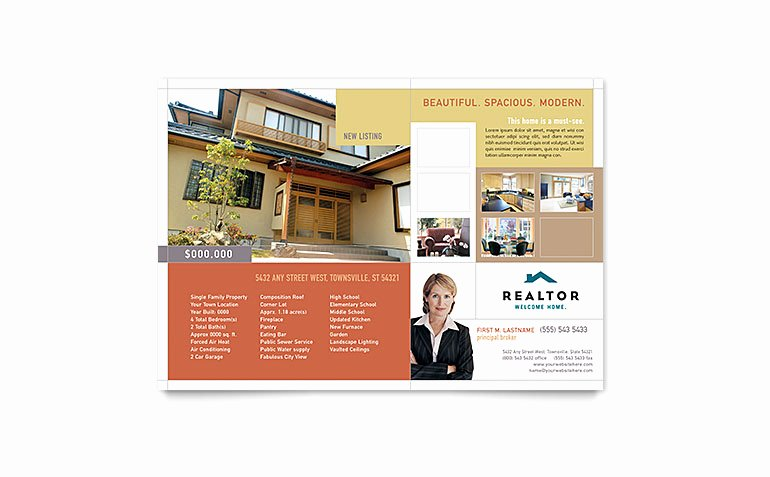 Realtor & Real Estate Agency Flyer Template Word & Publisher