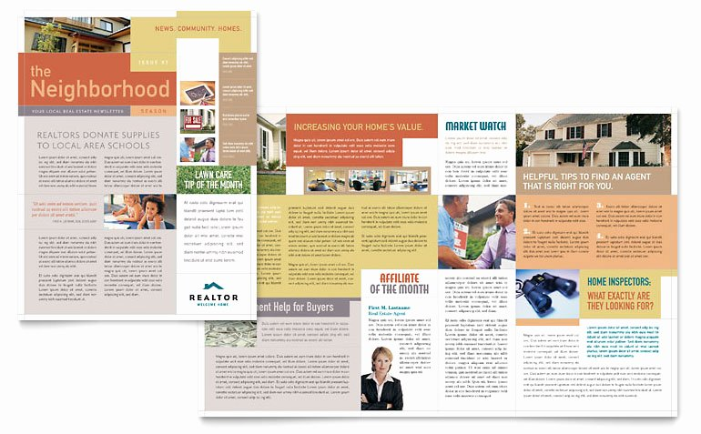 Realtor & Real Estate Agency Newsletter Template Word
