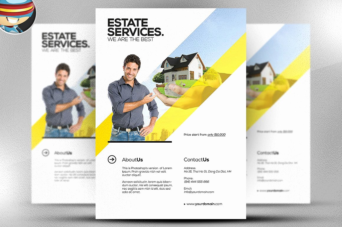 Realtor Flyer Template Flyer Templates Creative Market