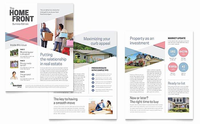 Realtor Newsletter Template Word & Publisher