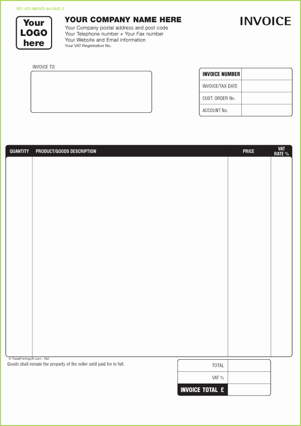 Receipt Goods Template