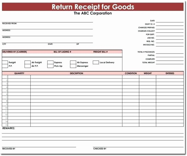 Receipt Goods Template Template Receipt Goods Goods