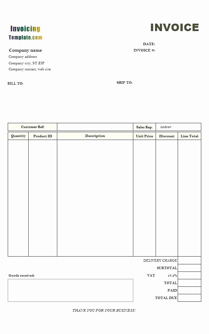 Receipt Of Goods Template – Arbitra Radingbondub