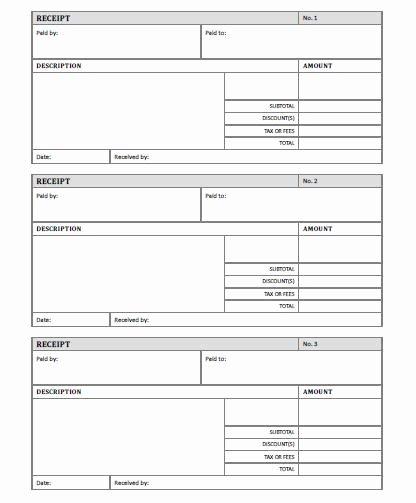 Receipt Template Free Printable Allfreeprintable