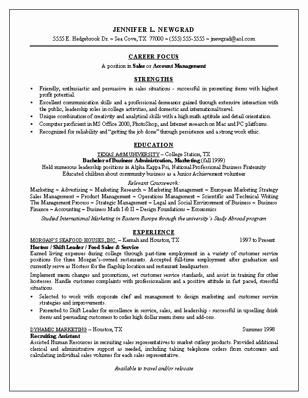 Recent Graduate Resume Examples Best Resume Collection