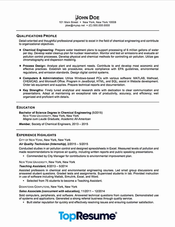 Recent Graduate Resume Resume Sample