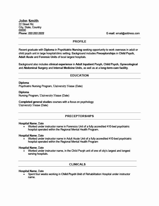 Recent Graduate Resume Sample Best Resume Collection