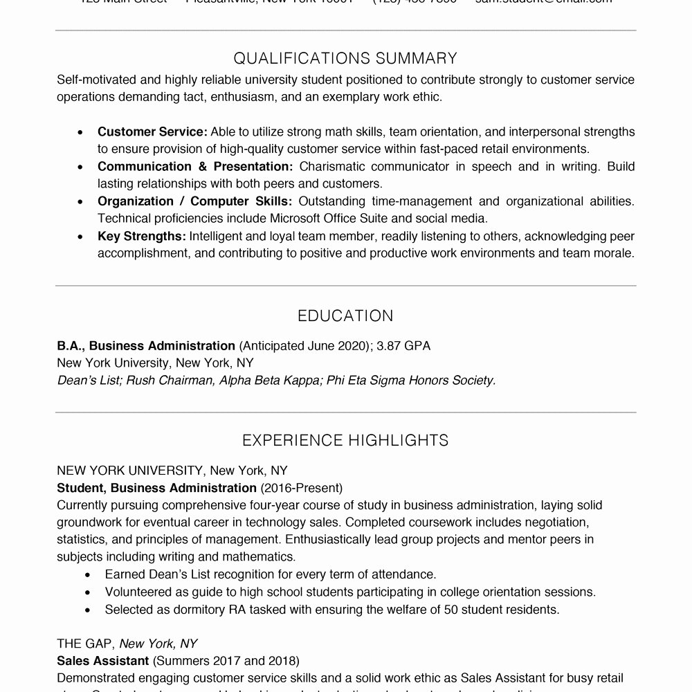 Recent High School Graduate Resume with Resume High School