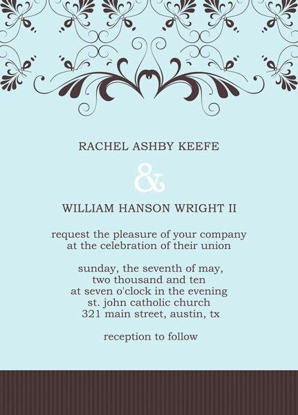 Reception Invitation Template Invitation Template
