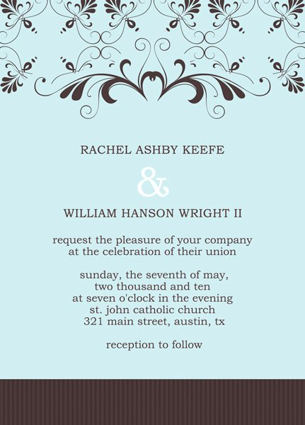 Reception Invitation Template Invitation Template