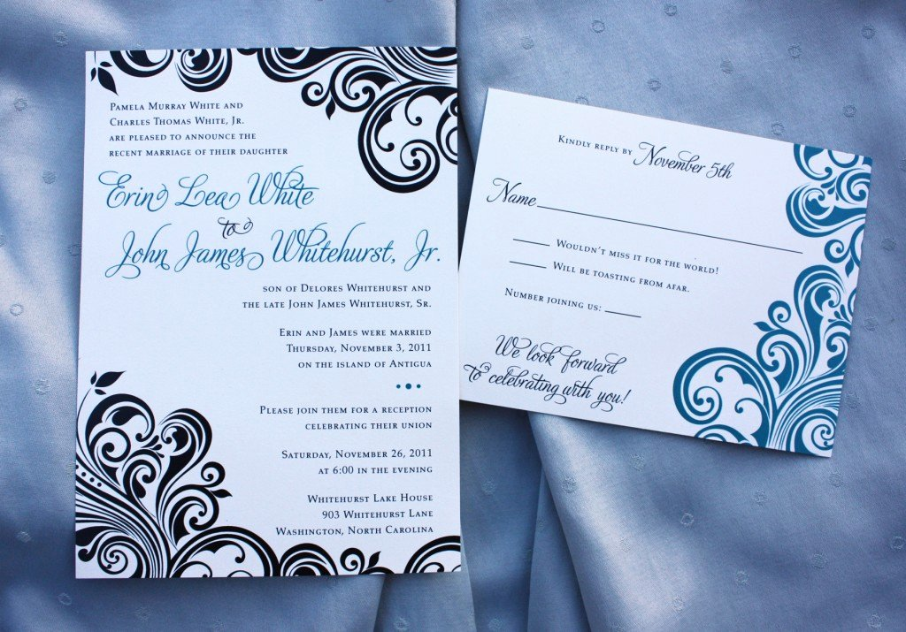 Reception Invitation Wording after Destination Wedding