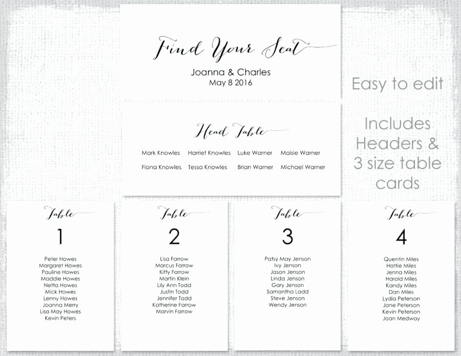 Reception Table Seating Chart Template X Wedding Free Uk