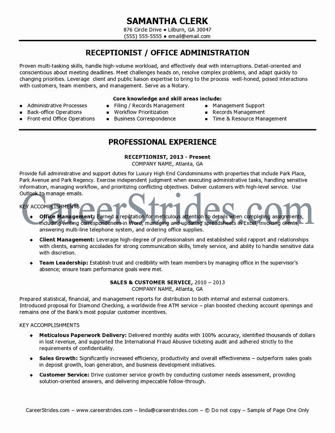 Receptionist Cover Letter Examples No Experience – Letter